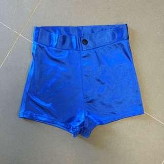 BNWT Blue Disco Shorts Size S
