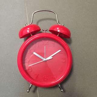 Brand New Red Retro Clock