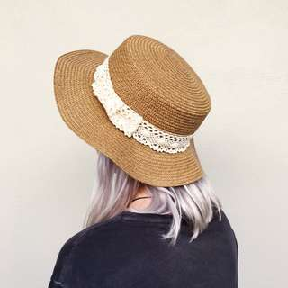 Vintage Sun Hat Brown