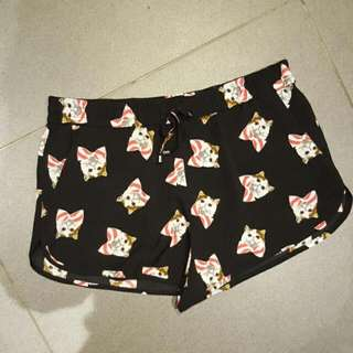 Cat Shorts With Tie Waist Size 10