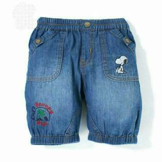 👑全新專櫃snoopy💲牛仔藍色短褲90-110