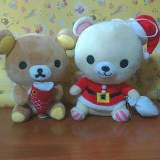 (兩隻)拉拉熊/懶懶熊/輕鬆熊/鬆弛熊 娃娃 (中)