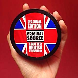 (Preloved)) Body Butter British Strawberry by Original Source