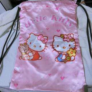 (現貨全新)Hello Kitty 雙面束口袋背包 束口袋背包
