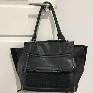 BLACK MIMCO VERTIGO Leather Bag