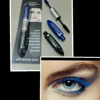 MAC Mascara 2 warna / Colour Biru dan Hitam Blue and Black