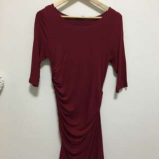 Side Ruched Dress - Size 12