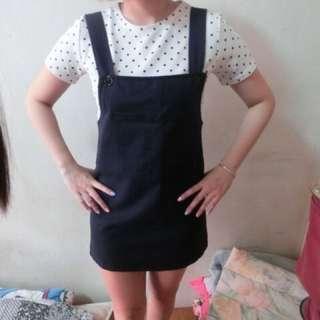 超可愛深藍硬版牛仔裙