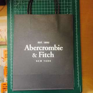 A&F全新手提小紙袋