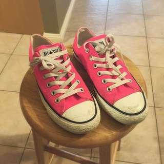 Fluro/Hot Pink All Star Converses