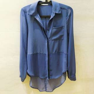 Nordstrom, Semi-Sheer Blouse, Extra Small