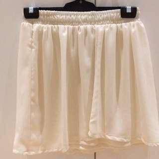 Cream Flowy Skirt