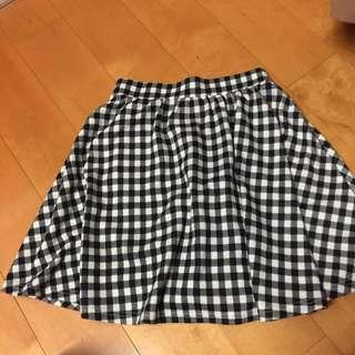 Ingni 黑白格子裙