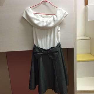 CECIL MCBEE 黑白洋裝