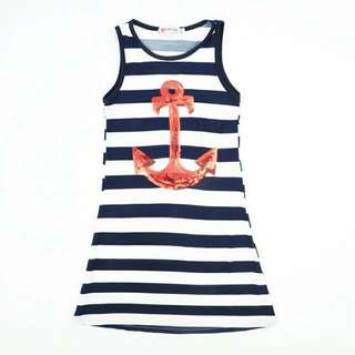 ✔INSTOCK GIRLS ANCHOR DRESS