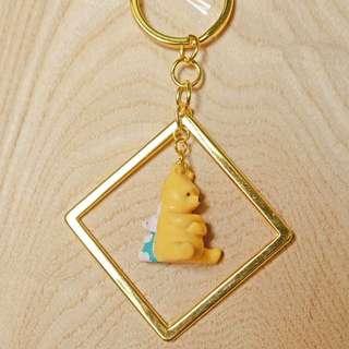 ❤️金方框復刻維尼小豬鑰匙圈