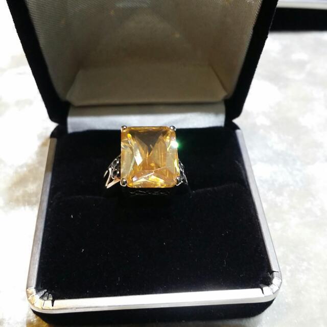 黃寶石鋼戒💛💛💛💛💛
