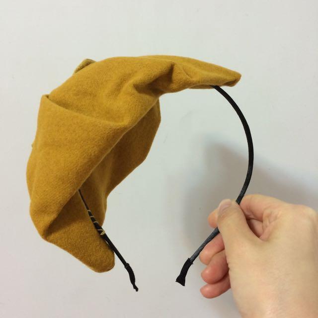 全新單邊裝飾小帽髮箍
