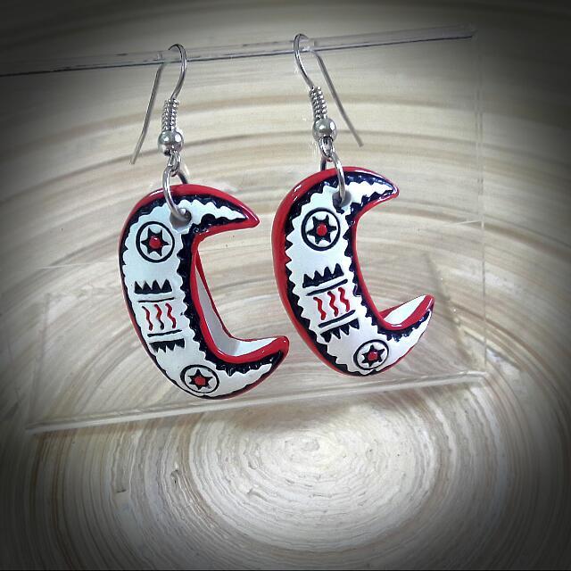 蘭嶼拼板舟耳環