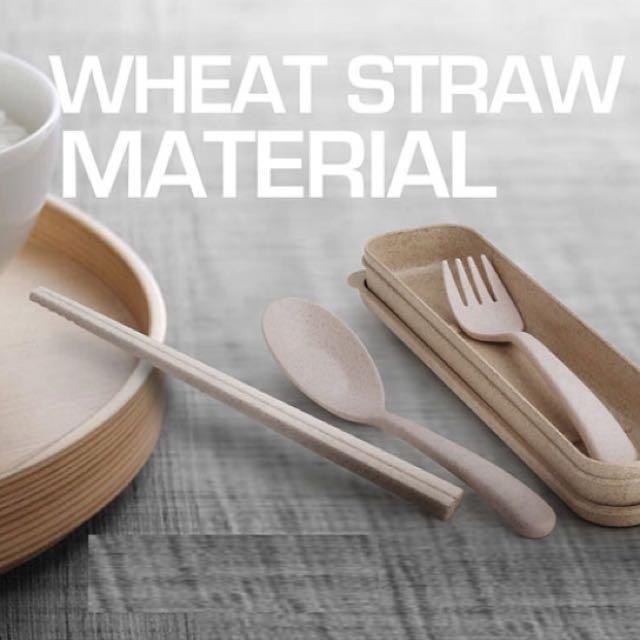 全新小麥環保便攜餐具組