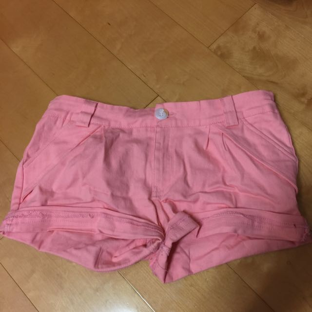 馬卡龍色粉色短褲