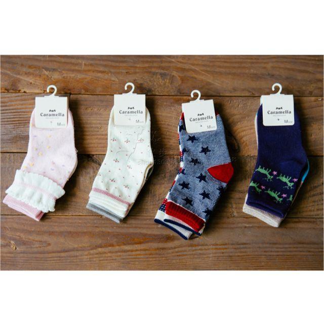 純棉鄉 村風質感超好小孩子的對襪組,一組兩雙$160