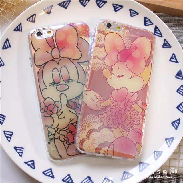 全新藍光迪士尼米妮手機軟殼 iPhone