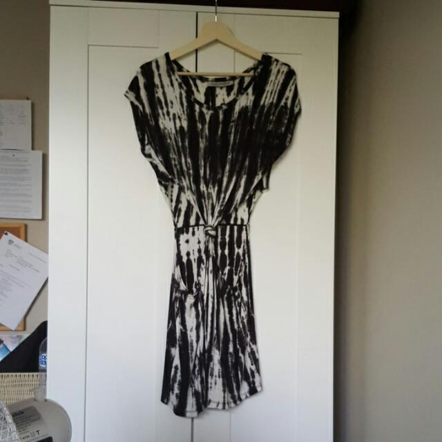 Acid Wash, Bleach, Tie Dye Cut Out Dress Size 8