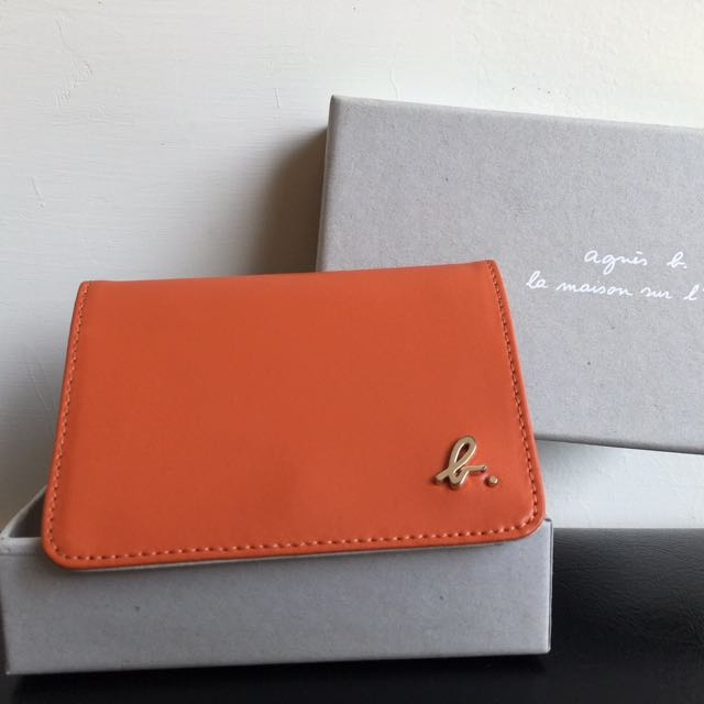 Agnes.b 橘色名片夾 卡片夾