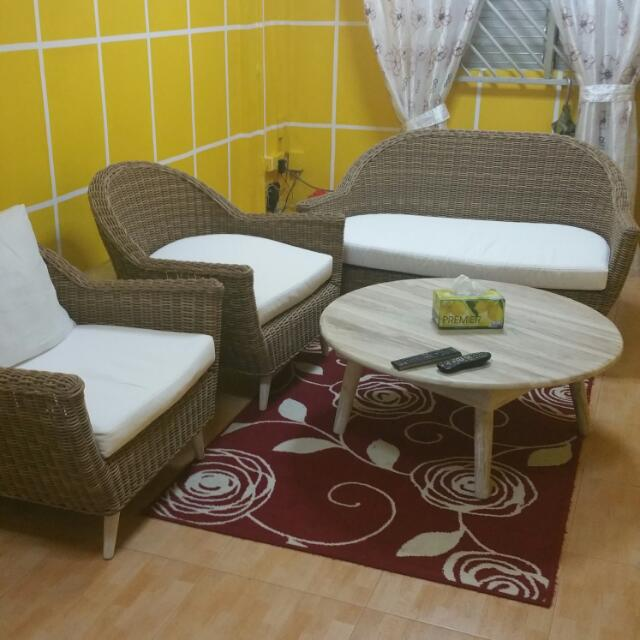 Brand New Sofa Rotan All Set For Sell Furniture On Carousell