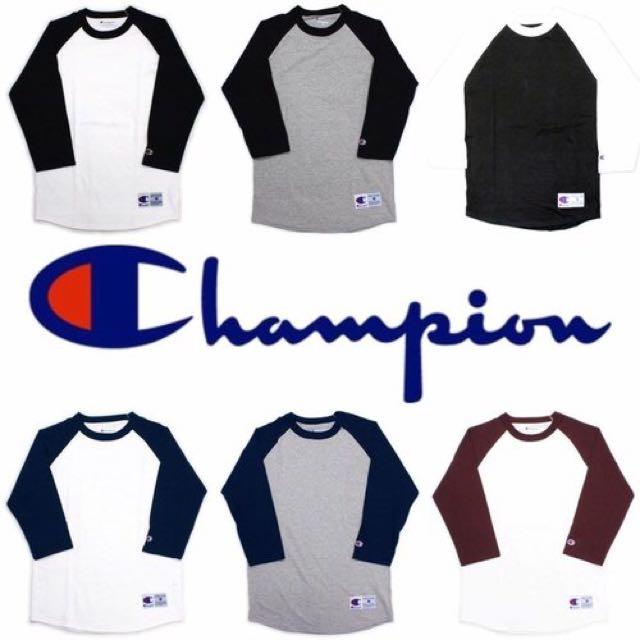 (現貨)Champion T137七分袖棒球衣