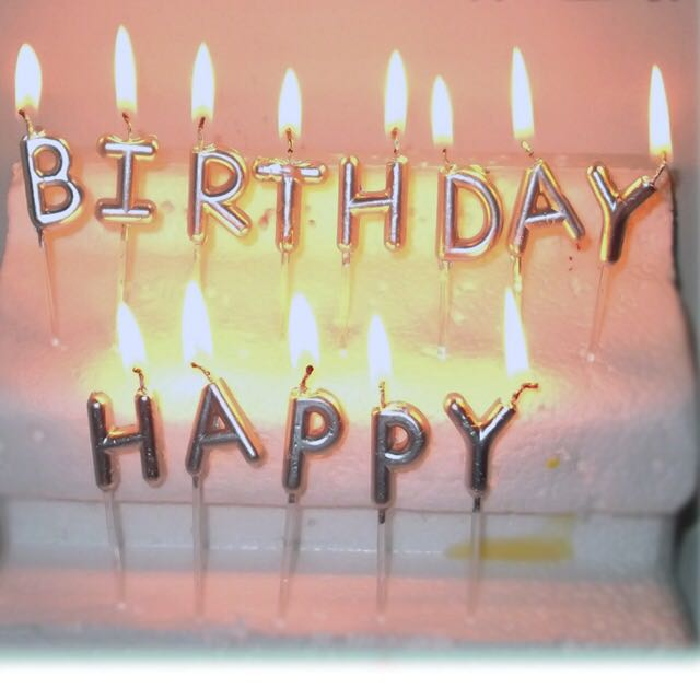 Gold And Silver Happy Birthday Candles