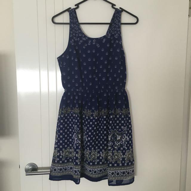 H&M Blue Dress Size 8