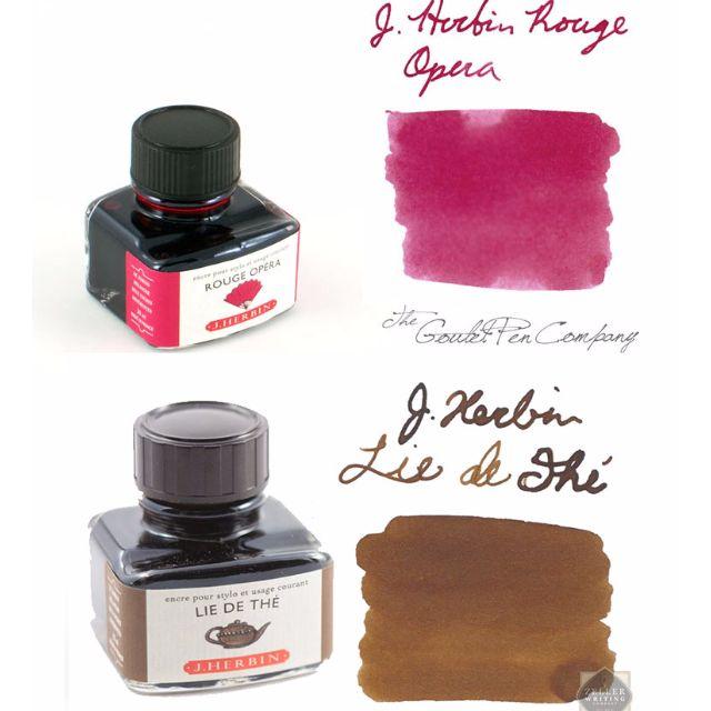 J.Herbin Rouge Opera 歌劇紅/ Lie de The東方茶紅/Terre de Feu 火地島 5ml鋼筆墨水分裝