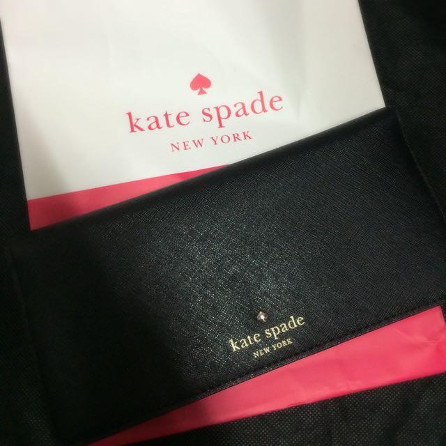 Kate Spade 黑色長夾 (全新)
