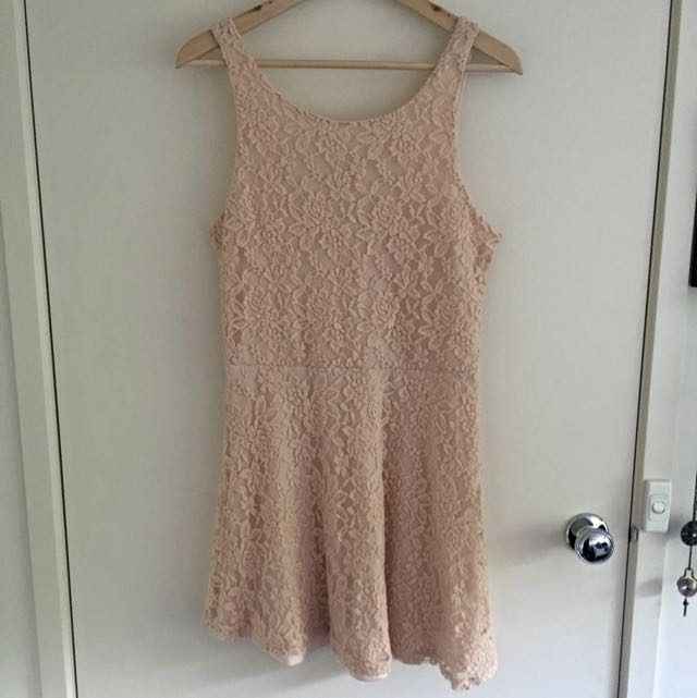 Miss Shop Lace Mini Dress Size 16