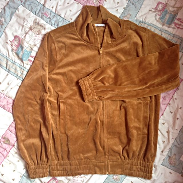 (Preloved) Jaket Beludru Cokelat Caramel by Fmg,co