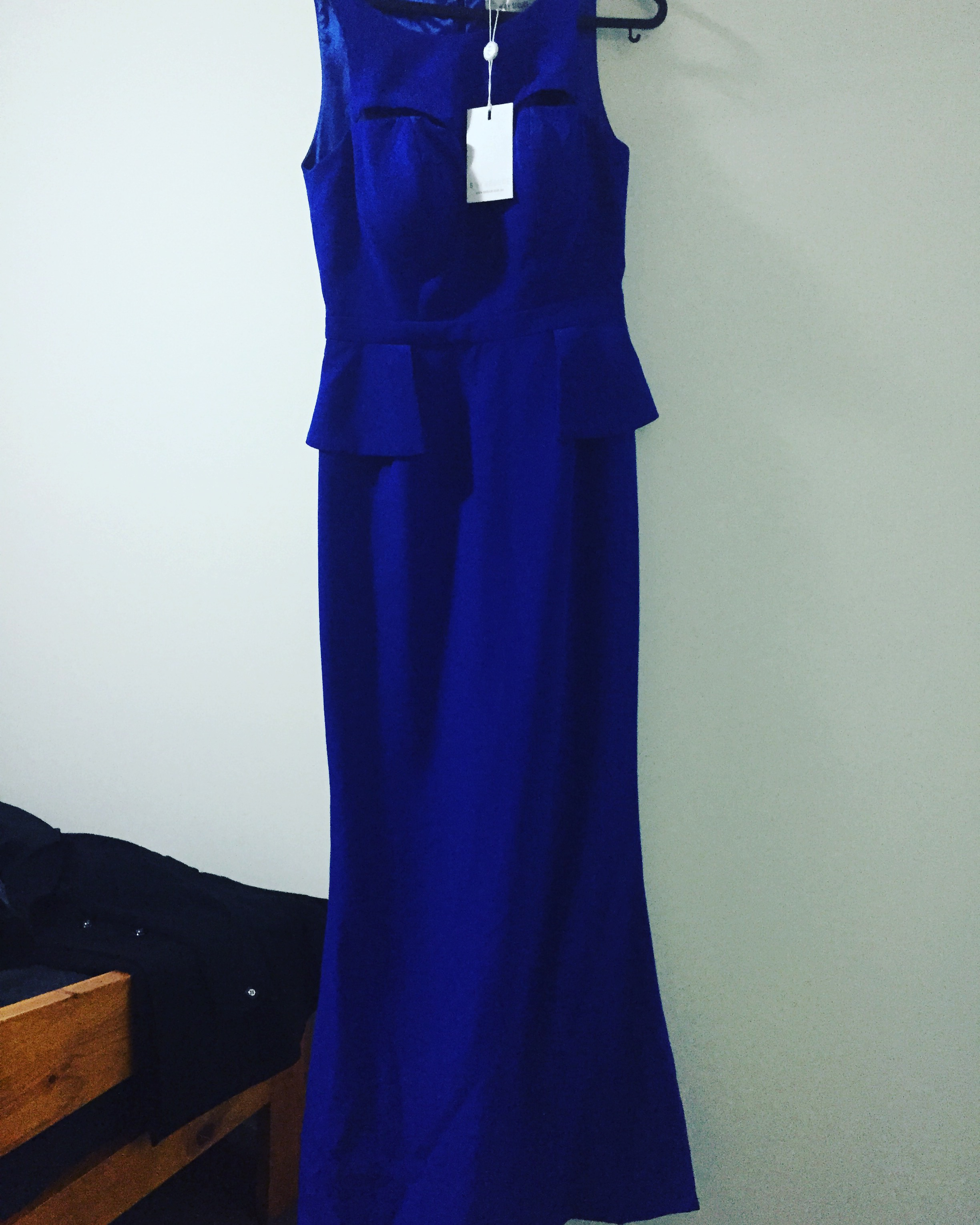 Sheike electric Blue gown Size 6