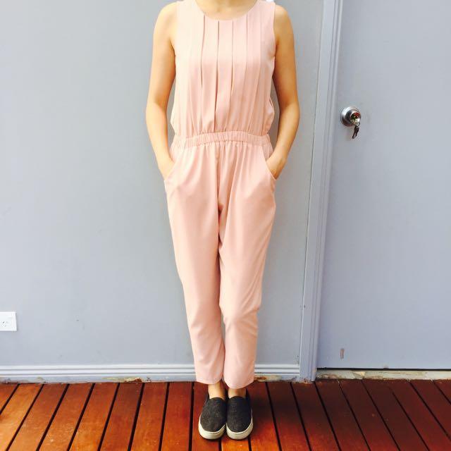 Super Cute Nude Pink Jumpsuit Fits size 6-8
