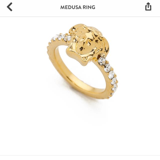 Versace 美杜莎戒指 戒圍7