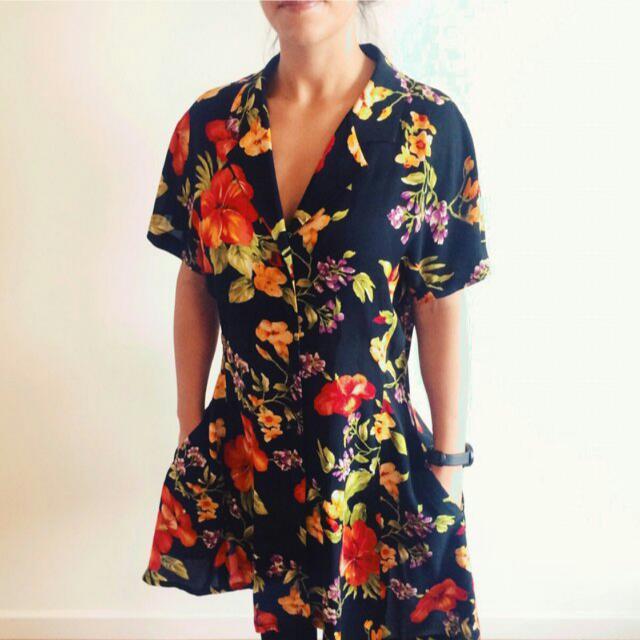 Vintage Floral Dress Size 8 / 10
