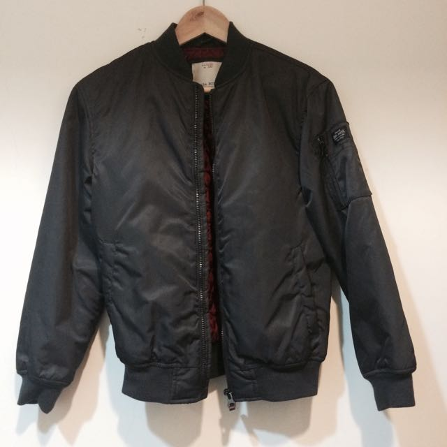 Zara Ma1 Slim Fit Bomber 夾克 外套 Alpha