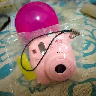 Mini8拍立得小吊飾 扭蛋 粉色