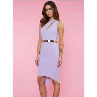 RUNAWAY kalenta Midi Dress- Lilac