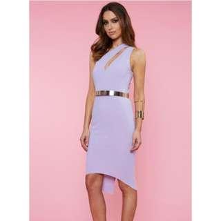 RUNAWAY kalenta Midi Dress- Lilac