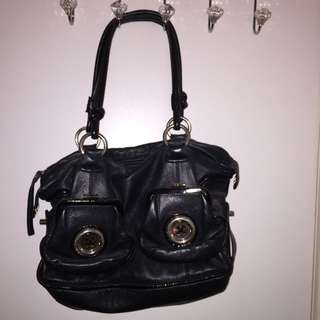 Classic Mimco Button Bag Black Large