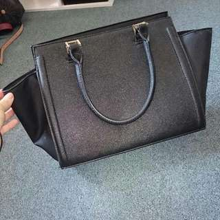 Black and Gold Bardot Bag
