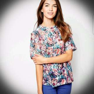 ASOS Glamorous Shell Top in Lace Floral