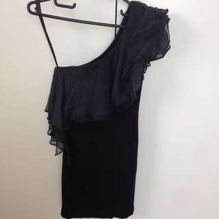Maurie & Eve One Shoulder Mini Dress Size 6