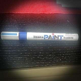 Zebra Paint Marker ( Blue )